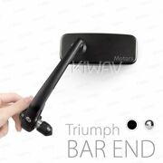 Motorcycle Bar End Mirrors Classic For Triumph Air-cooled