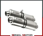 Exhaust Storm By Mivv Mufflers Oval Steel For Ducati Monster 750 1994 94