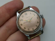 1954 1mchz Very Rare Collectible Ussr Watch Pobeda Hermetic Case Copper Serviced