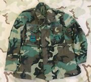 Us Air Force Coat Cold Weather Camo Field Jacket Lt Colonel 3300 Tech Trng Patch