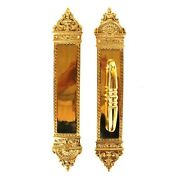 Large Solid Brass Push And Pull Commercial Quality Handle Door Hardware Set