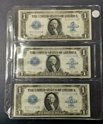 1923 Large 1 One Dollar Silver Certificates 3 Consecutive Notes