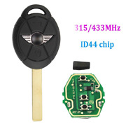 Dudely Replacement Key For Mini Cooper 2005 2006 2007 Car Key Remote
