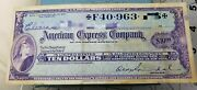 American Express Travelers Cheques Live Check Vintage Orginal 10