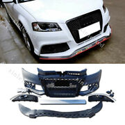 Unpainted For Audi A3 2008-2012 Front Bumper Conversion Kit To Rs3 Style 1 Set