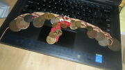 Older Turkey / Arab Coins On Cloth Necklace / Collar 23 Coins Unusual Neat
