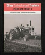 1968 New Oliver 2150 And 1950t Turbocharged Tractor Catalog Brochure Very Nice