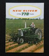 1959 Oliver 4 Plow Power 770 Tractor Row-crop Orchard Wheatland Brochure Nice