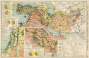 Middle East/sw Asia. Commercial. Mining And Agricultural Production 1925 Old Map