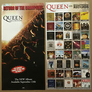 Queen And Paul Rodgers Double Sided Promo Poster Flat For 2005 Cd Freddie Mercury