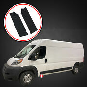 14-19 Fits Ram Promaster 2pc Door Threshold Step Shield Pads Scratch Guard Cover