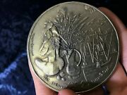 The Painter Of Happiness Roger Worms French Medal By H Guastalla 177gr Silver