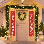 Hanging Christmas Banners Outdoor Decorations For Home Signs Pendants Ornaments