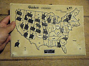 25 States Rare Jmf Fisher Sterling Charms Vintage 1940s Retail Usa Map Display
