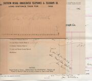 1906 Billhead And Envelope Southern Nevada Consolidated Telephone Co Goldfield