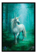 Anne Stokes Unicorn Framed Cork Pin Board With Pins