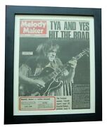Ten Years After+melody Maker Rare Original 1971+poster+framed+fast Global Ship