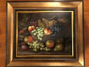 Beautiful Antique Oil Painting On Canvas With A Gorgeous Frame Early 1890sandnbsp