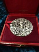 1974 Paris Sterling Silver French Art Medal By Famous Delamarre 70mm 161gr