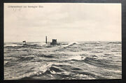 Mint German Navy U Boat Submarine 9 At Sea Real Picture Postcard