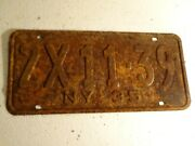1935 New York State License Plate 2x11-39