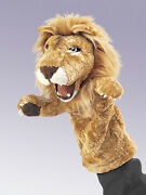 New Plush Soft Toy Folkmanis 2562 African Lion Stage Hand Puppet 36cm
