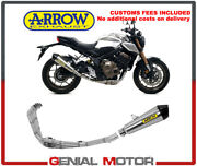 Exhaust System Appr Arrow Collect Kat Xkone Tail Pipe Carbon Honda Cb 650 R 2030