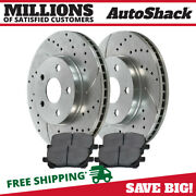 Front Drilled Slotted Brake Rotor Performance Ceramic Pad Kit For Toyota Corolla