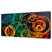 Abstract Colourful Circles Modern Box Canvas Print Wall Art Picture Photo