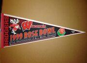 1999 Wisconsin Badgers Rose Bowl Ncaa College Football Pennant