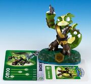 Skylanders Swap Force Swappable Stink Bomb Figure Loose + Card And Sticker