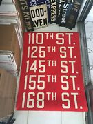 Ny Nyc Bus Roll Sign 110 125 Street Harlem Central Park Martin Luther King Blvd.