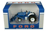 Ford 8000 Narrow Front With Loader Blue 1/64 Diecast Model By Speccast Zjd1835