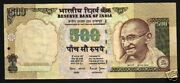 India 500 Rupees P93 2000 Gandhi Major Error Without Serial  Money Banknote