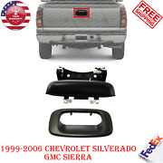 Tailgate Handle + Bezel Outside Textured For 1999-2006 Silverado And Gmc Sierra