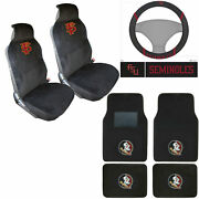 New Florida State Seminoles Auto Seat Covers Steering Wheel Cover Floor Mats