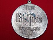 The Beatles Mcmlxiv Record Medal Charm Key Chain Necklace Charm Pendant