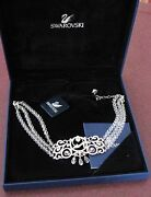 Signed Crystal Disney Cinderella Necklace In Box And Certificate