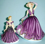 Royal Doulton Emma And Erin Pretty Ladies Figurines 2 Pc Foy 2011 Signed New