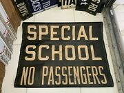 Ny Nyc Bus Roll Sign Brooklyn 1956 Special School No Passengers Nis Vintage Art