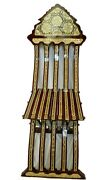 D Antique Chair,mother Of Pearl Inlaid,inlay Wood,vintage Wooden Chairs Folding