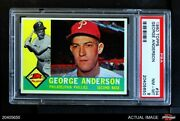 1960 Topps 34 Sparky Anderson Phillies Psa 8 - Nm/mt