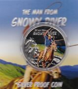 Boxed 2013 Tokelau Silver Proof One Dollar Certificate The Man From Snowy River