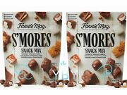 2 Packs Fannie May Milk Chocolate Sand039mores Snack Mix 18 Oz Each Pack