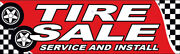 Tire Sale Service Install Vinyl Banner 3x10 Ft Auto Sign - Rb