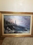 Thomas Kinkade Clearing Storms Oil Canvas 36x24 Number 843/2950 S/n Canvas