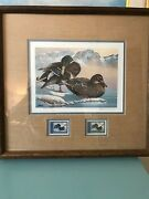 1986 Washington First Of State Duck Stamp Print Keith Warrick W/ 2 Stamps