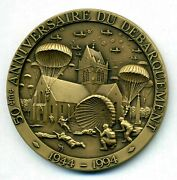 Ww Ii Troops From The Uk,the Us, Canada,and France Attacked German Forces Medal