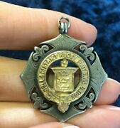 Uk Vintage Hull Rugby Football Union 15ct Gold Center Silver Medal Badge