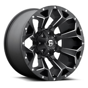 4 22x9.50 Fuel Black And Mill Assault Wheels 8x170 For 2003-2019 F250 F350 2-4wd